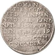 1 Groschen - Johann Georg II. (Sterbegroschen; Death) – avers