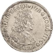 1 Groschen - Johann Georg III. (Sterbegroschen; Death) – avers