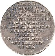 ¼ Thaler - Johann Georg III. (Death) – avers
