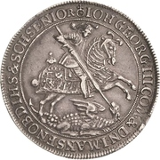 ½ Thaler - Johann Georg III. (Death) – avers