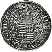 1 Thaler - Gebhard VII & Johann Georg I – avers