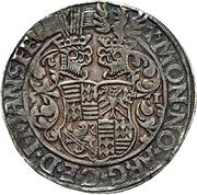 1 Thaler - Gebhard VII., Joh. Georg I. & Peter Ernst I – revers
