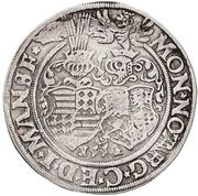 ½ Thaler - Gebhard VII, Johann Georg I & Peter Ernst I – revers