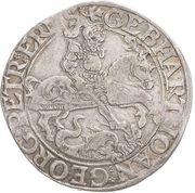 1 Thaler - Gebhard VII, Johann Georg I & Peter Ernst I – avers
