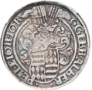 ½ Thaler - Gebhard VII., Albrecht VII., Philipp II. and Johann Georg I. – avers