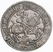 1 Thaler - Christoph II, Johann Albrecht I & Bruno II – avers