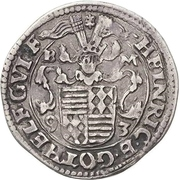 ¼ Thaler - Heinrich II. and Gotthelf Wiilhelm – avers