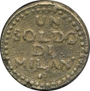 1 soldo (monnaie de siege) – revers