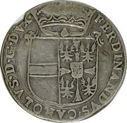 1 scudo - Ferdinando Carlo – avers