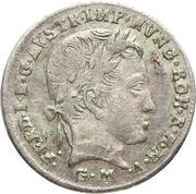 3 kreuzer, 15 centesimi Ferdinand I – avers