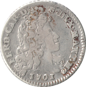 1 Lira - Ferdinando Carlo – avers