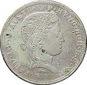 1 fiorino, ½ thaler Ferdinand I – avers