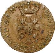 ½ soldo Franz II – avers