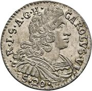 20 soldi Charles VI – avers