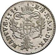 20 soldi Charles VI – revers