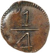 ¼ Real - Fernando VII (Monnayage royaliste) – revers