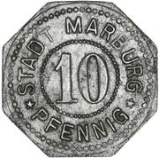 10 pfennig - Marburg an der Lahn – avers
