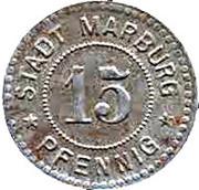 15 pfennig - Marburg an der Lahn – avers