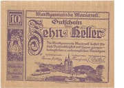 10 Heller (Mariazell) – avers