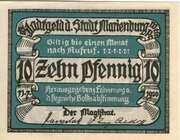 10 Pfennig (Stadt Marienburg West Pr.) – avers