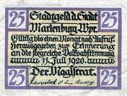 25 Pfennig (Marienburg) – avers