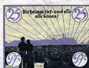25 Pfennig (Marienburg) – revers