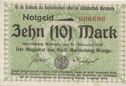 10 Mark (Marienburg) – avers