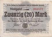 20 Mark (Marienburg) – avers