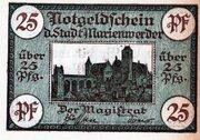 25 Pfennig (Marienwerder) – avers