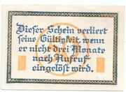 50 Pfennig (Marienwerder) – revers