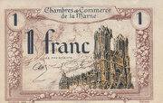 1 franc - Chambre de Commerce de la Marne – avers