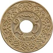 """25 Centimes - Yusuf (Essai; with """"Essai"""" below hole) -  revers"""