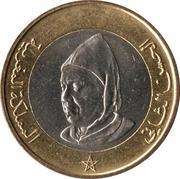 10 dirhams  Hassan II (4ème effigie) -  avers