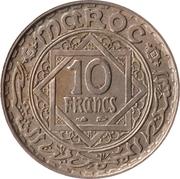 10 francs Mohammed V (cupronickel) -  revers