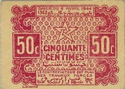50 Centimes 1944 – avers