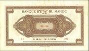 1000 Francs 1943 - 1944 – avers
