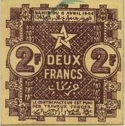 2 Francs 1944 – avers