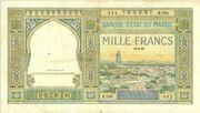 1000 Francs 1921 - 1950 – avers