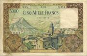 5000 Francs 1953 1958 – avers