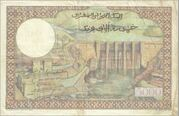 5000 Francs 1953 1958 – revers