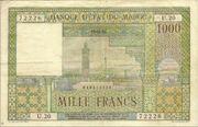 1000 Francs 1951 1958 – avers