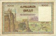 1000 Francs 1951 1958 – revers