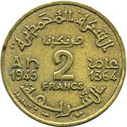 2 francs Mohammed V -  revers