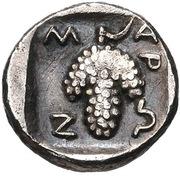 Hemiobol (Maroneia) – revers