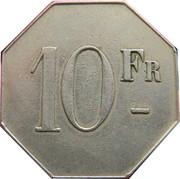 10 francs - Cercle des Phocéens Marseille [13] – revers