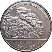 5 dollars (Pearl Harbour) – revers