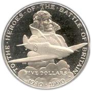 5 dollars (bataille d'Angleterre) – revers