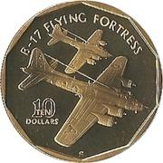 10 dollars (B-17 Flying Fortress) -  revers