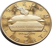 5 Dollars (JFK - To A New Generation) – revers