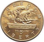 5 Dollars (JFK - Support Any Friend) – revers